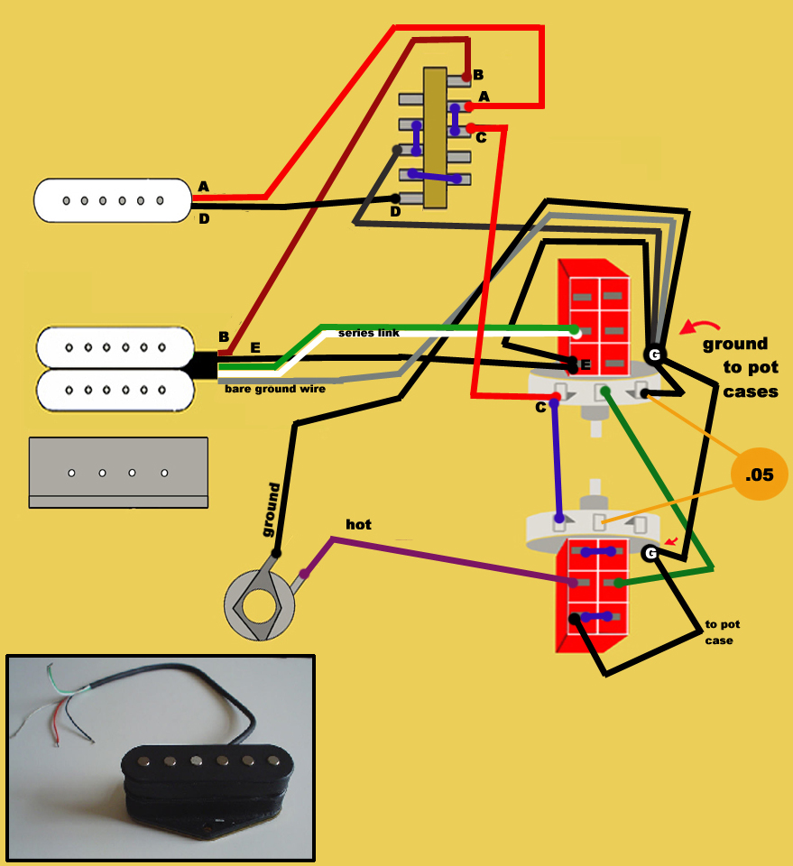 Fender Wiring Diagram Stratocaster Stacked Pickups Library Electric Guitar For Dummies Free Download Click Here To The